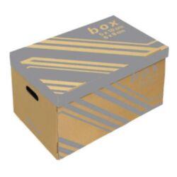 Archiváló konténer Fornax 522x351x305 mm 6 db iratrendezőhöz külön záró fedéllel