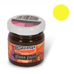 Kreatív üvegfesték Pentart 30 ml sárga
