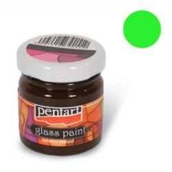 Kreatív üvegfesték festék Pentart 30 ml zöld