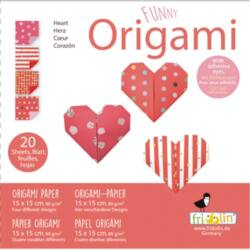 Origami Fridolin Funny Szív 15x15 cm 20 lap/csomag