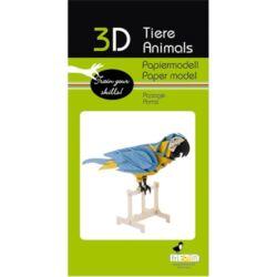 3D papírmodell Fridolin Papagáj