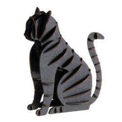 3D papírmodell Fridolin Fekete macska
