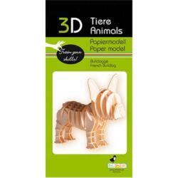 3D papírmodell Fridolin Francia bulldog
