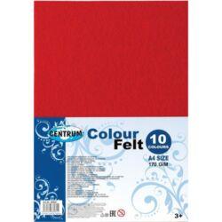 Kreatív filclap Centrum A/4 2 mm vastag 10 db/csomag vegyes színek