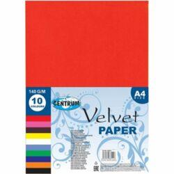 Kreatív bársonypapír Centrum A/4 2 mm 10 db/csomag vegyes színek