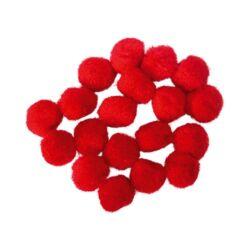 Kreatív Junior pompom, piros, 20 mm, 20 db