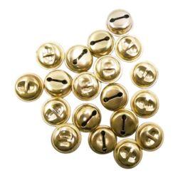 Kreatív Junior csengő, arany, kerek, 18 mm, 10 db