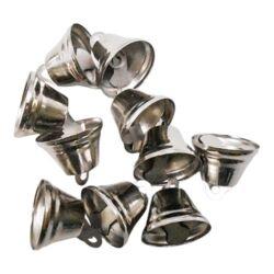 Kreatív Junior csengő, ezüst, 26 mm, 5 db