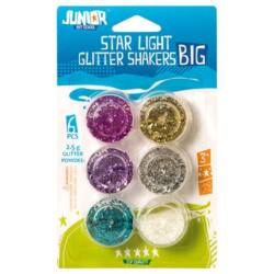 Kreatív Junior csillám, nagy szemű, vegyes, 6 db/bliszter