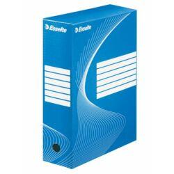 """Archiválódoboz, A4, 100 mm, karton, ESSELTE """"Boxycolor"""", kék"""
