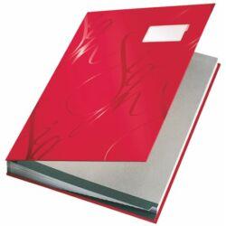 """Aláírókönyv, A4, 18 részes, karton, LEITZ """"Design"""", piros"""