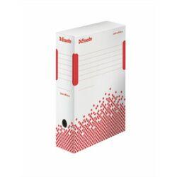 """Archiválódoboz, A4, 100 mm, újrahasznosított karton, ESSELTE """"Speedbox"""", fehér"""