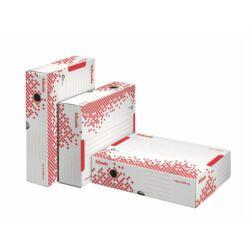 """Archiválódoboz, A4, 80 mm, újrahasznosított karton, felfelé nyíló, ESSELTE """"Speedbox"""", fehér"""
