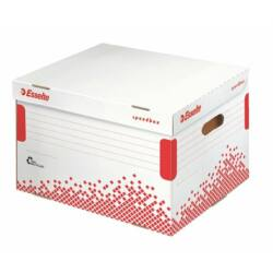 """Archiválókonténer, újrahasznosított karton, felfelé nyíló, ESSELTE """"Speedbox"""", fehér"""