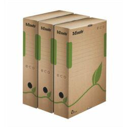 """Archiválódoboz, A4, 80 mm, újrahasznosított karton, ESSELTE """"Eco"""", barna"""