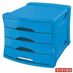 """Irattároló, műanyag, 4 fiókos, ESSELTE """"Europost"""", Vivida kék"""
