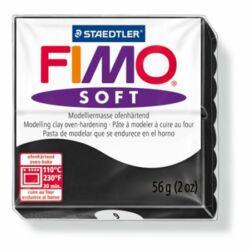 """Gyurma, 57 g, égethető, FIMO """"Soft"""", fekete"""