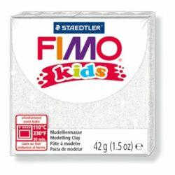 "Gyurma, 42 g, égethető, FIMO ""Kids"", glitteres fehér"