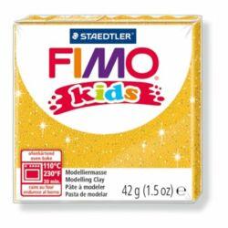 "Gyurma, 42 g, égethető, FIMO ""Kids"", glitteres arany"