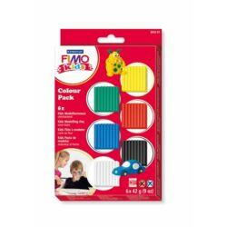 """Gyurma készlet, 6x42 g, égethető, FIMO """"Kids Color Pack"""", 6 alapszín"""