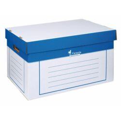 Archiválókonténer, 320x460x270 mm, karton, VICTORIA, kék-fehér