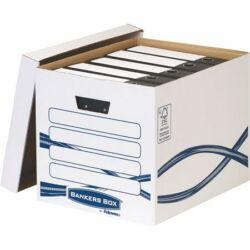 """Archiválókonténer, karton, FELLOWES, """"Bankers Box Basic Tall"""", kék-fehér"""