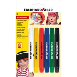 Arcfestő készlet, EBERHARD-CASTELL, csavarható, 6 különböző szín